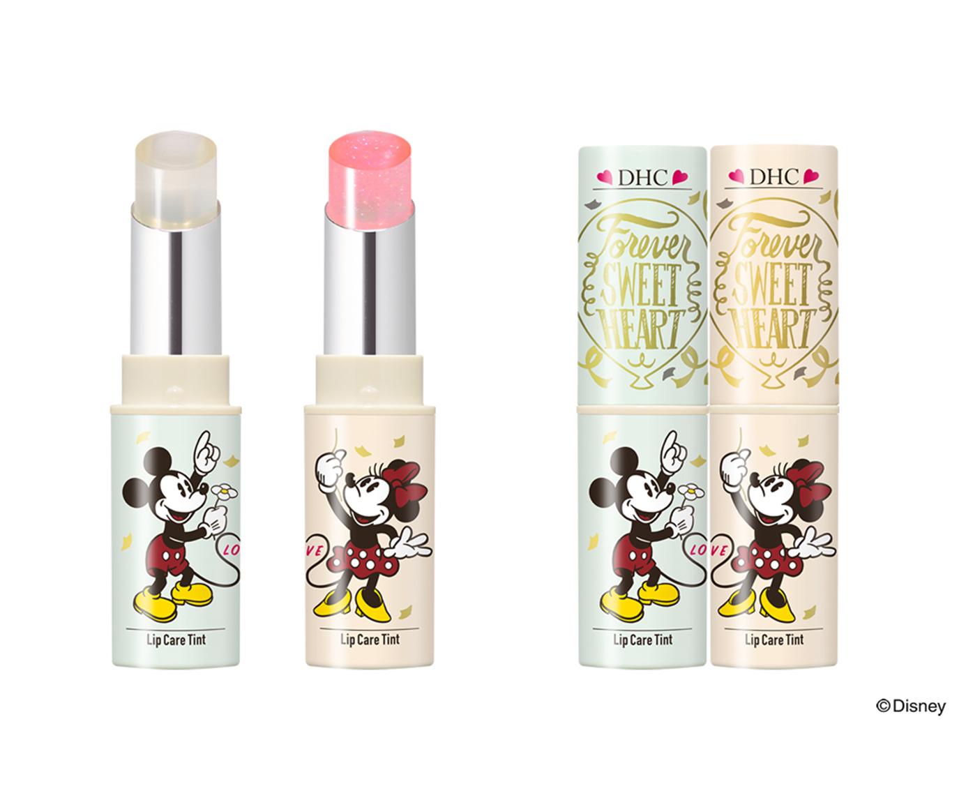 【迪士尼限定款】自然系女孩必備,DHC變色護唇膏,米奇米妮化身合體LOVE!