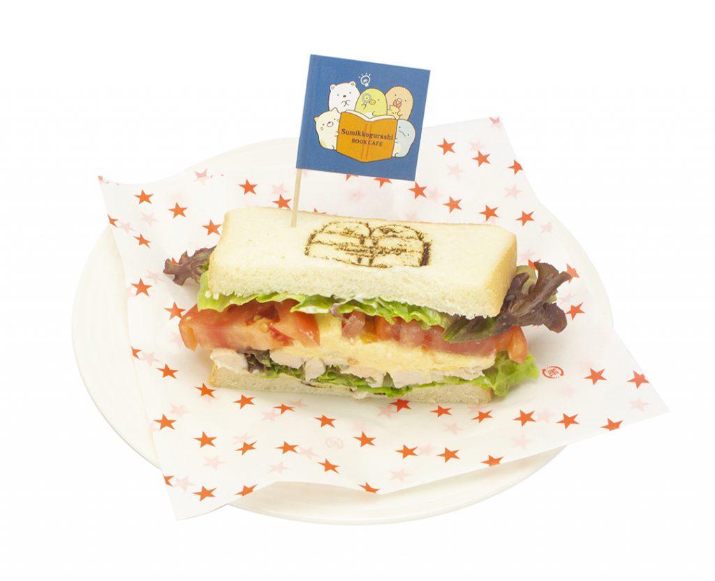 「角落生物壓印之萵苣雞肉三明治」—<澀谷MODI主題咖啡廳>