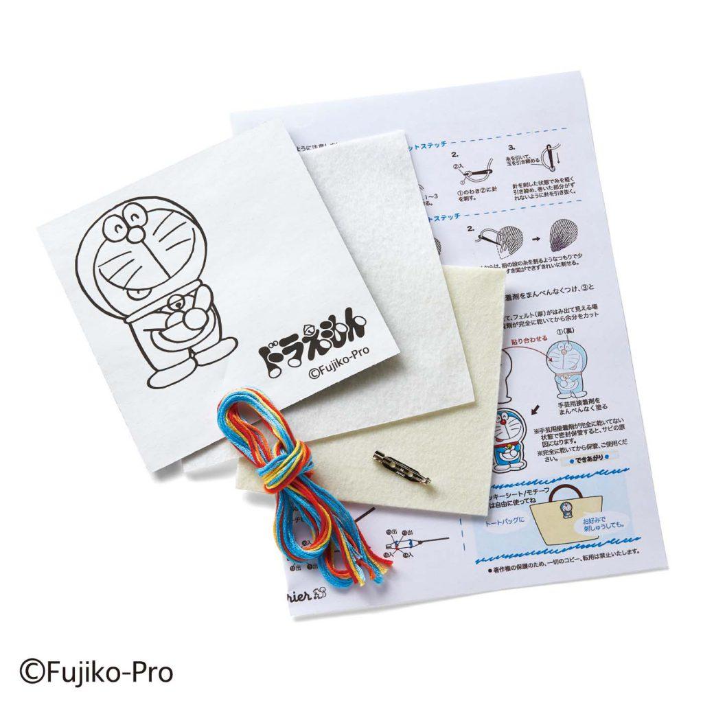 哆啦A夢 x Felissimo 刺繡